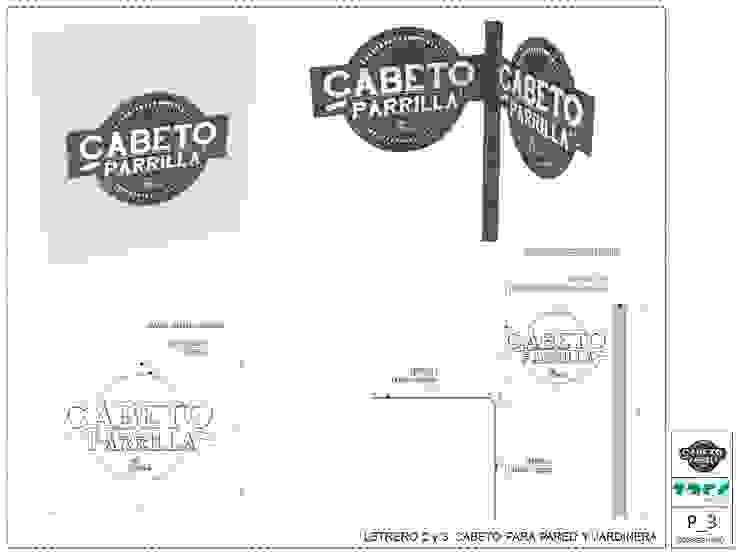 CABETO _Parrilla de @tresarquitectos Industrial