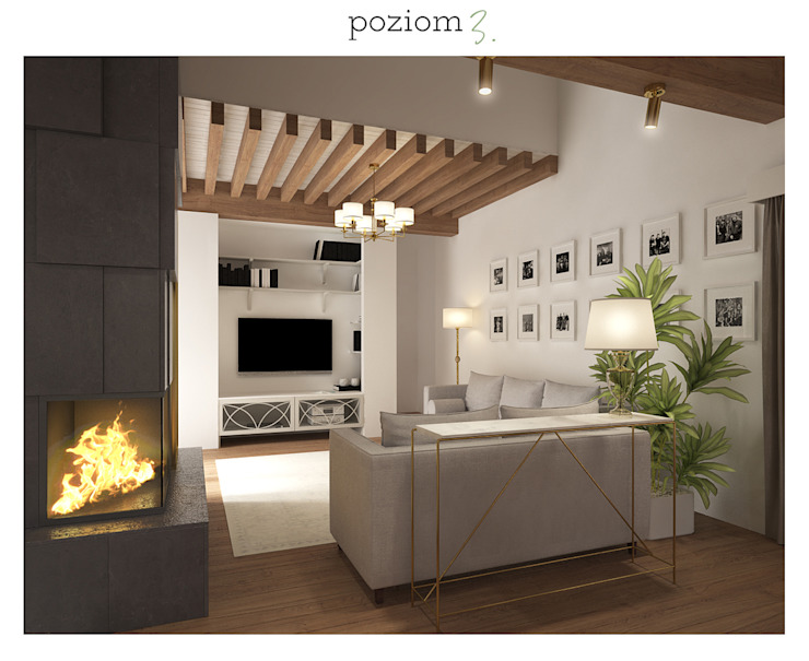 Classic style living room by poziom3. Classic