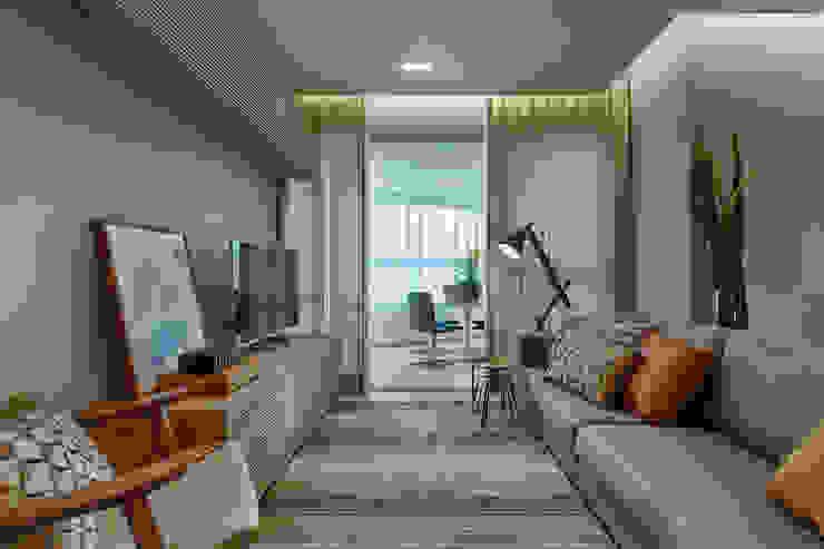 Sala De Estar com Varanda Salas de estar modernas por Renata Basques Arquitetura e Design de Interiores Moderno