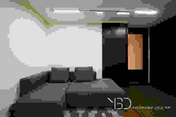 아늑한 가족실 모던스타일 서재 / 사무실 by 영보디자인 YOUNGBO DESIGN 모던