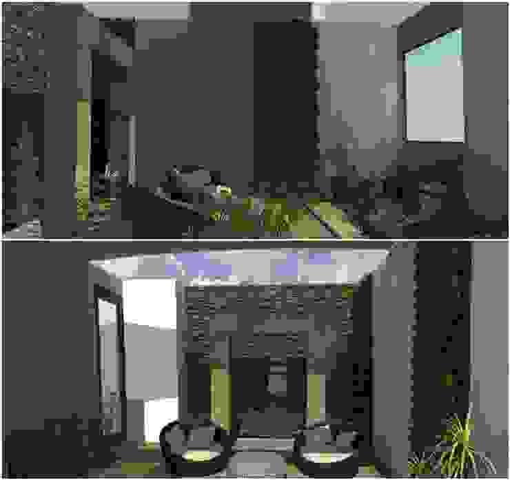 anteproyecto. render. Jardines de estilo moderno de 3HOUS Moderno