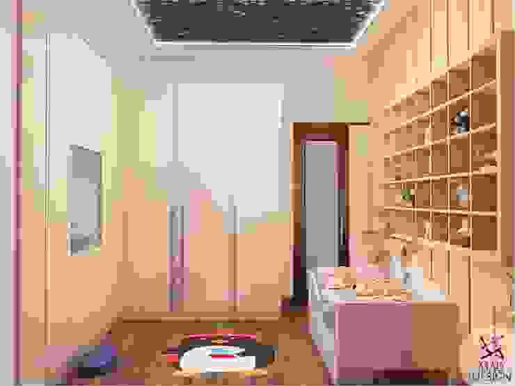 KIDS ROOM - VIEW 1 Minimalist nursery/kids room by homify Minimalist