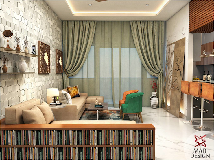 LIVING ROOM - VIEW 1 Minimalist living room by homify Minimalist