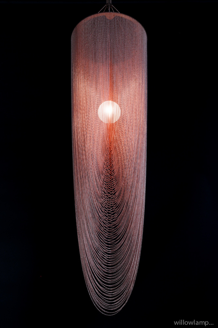 Double Spiral Pod Pendant: eclectic  by willowlamp, Eclectic