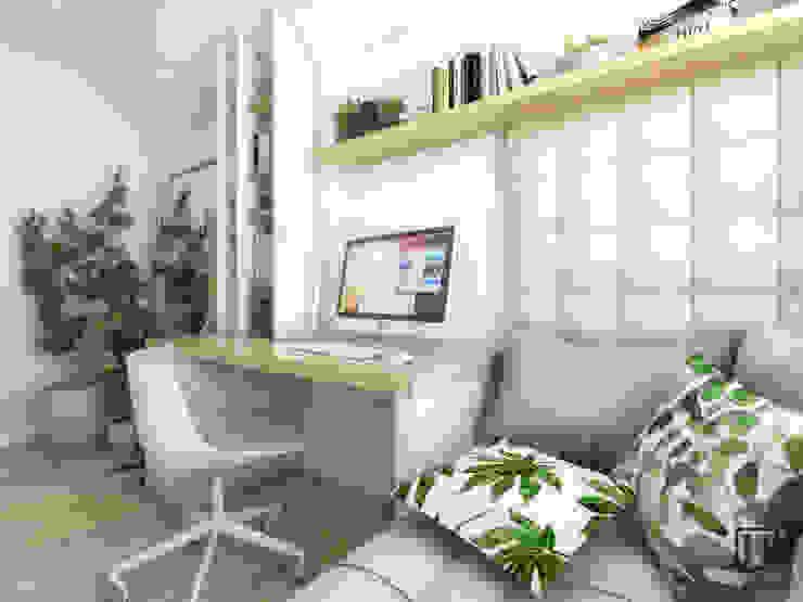 Estudios y despachos de estilo escandinavo de Huk Architekci Escandinavo