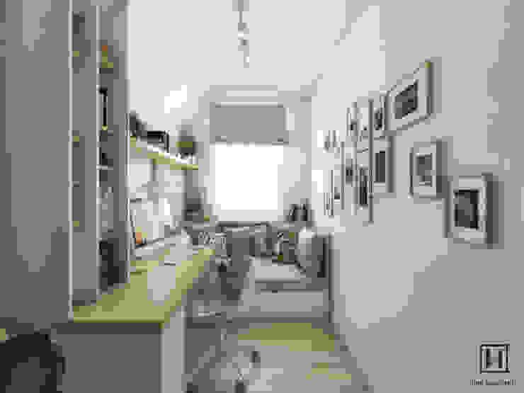 Phòng học/văn phòng phong cách Bắc Âu bởi Huk Architekci Bắc Âu