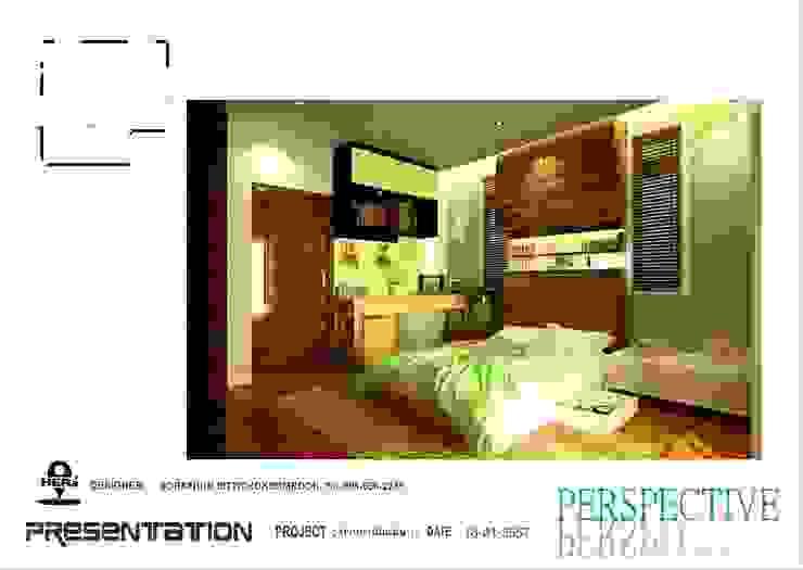 ห้องนอน 1 โดย ็HERE DESIGN