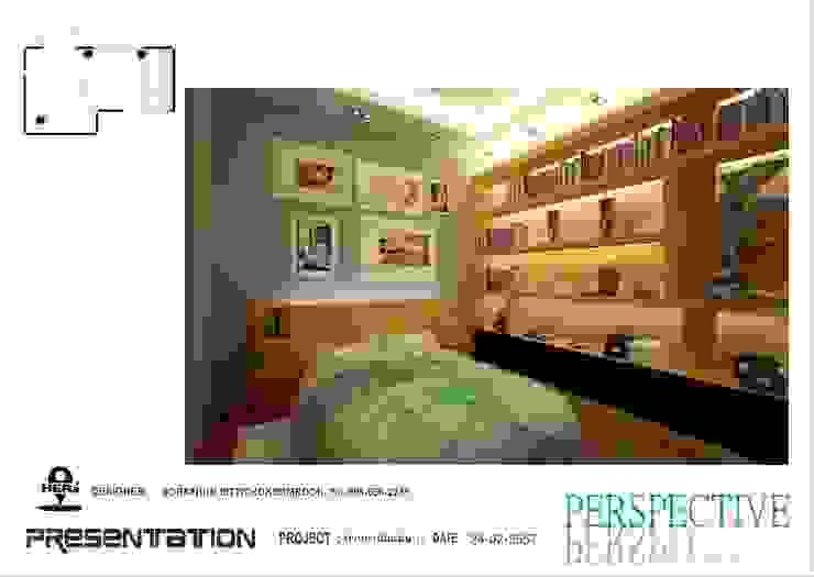 ห้องนอน 3 โดย ็HERE DESIGN