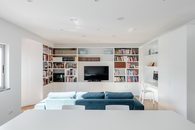 Contexto ® Ruang Keluarga Minimalis Kayu Buatan White