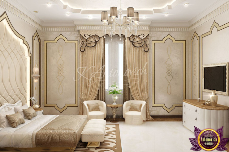  Luxurious bedroom design from Katrina Antonovich Classic style bedroom by Luxury Antonovich Design Classic