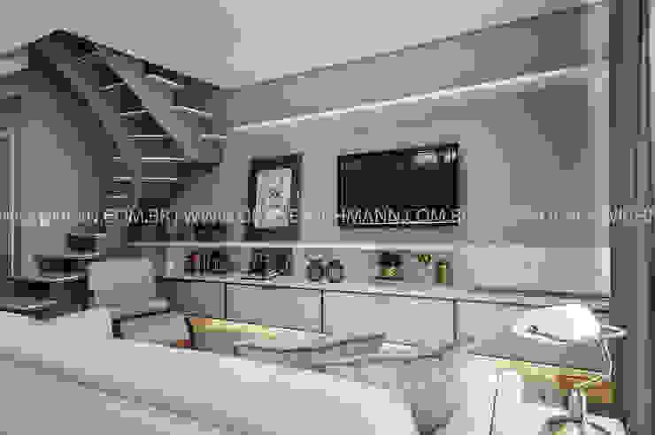 RESIDÊNCIA I O+L Treez Arquitetura+Engenharia Salas de estar modernas Mármore Branco