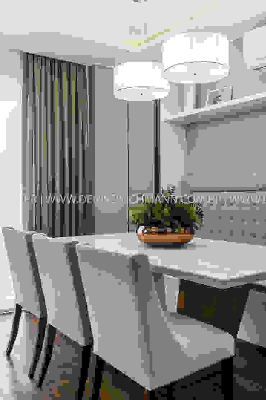 RESIDÊNCIA I O+L Treez Arquitetura+Engenharia Salas de jantar modernas MDF Bege