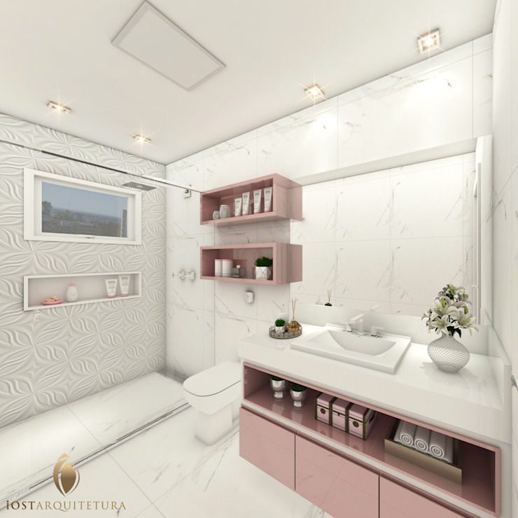 iost Arquitetura e Interiores Baños de estilo moderno Piedra Blanco
