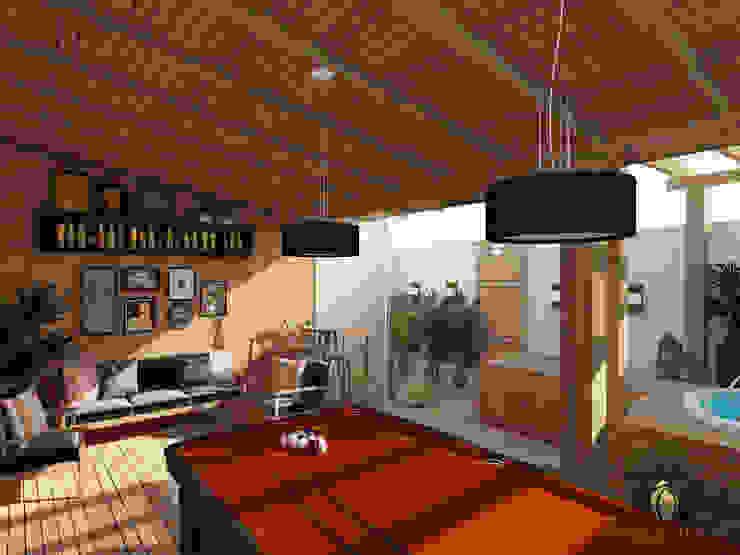 Cocinas de estilo rústico de iost arquitetura Rústico