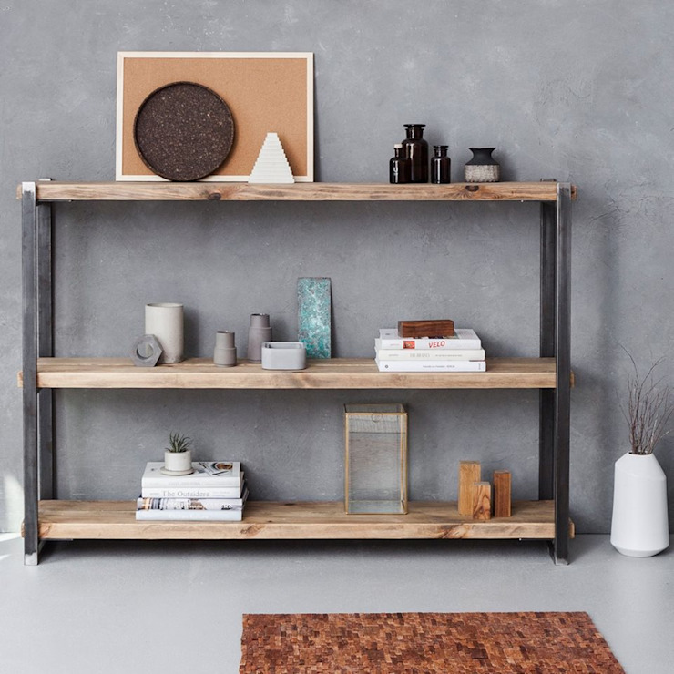 FraaiBerlin GmbH Living roomShelves Iron/Steel