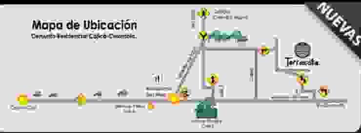 CASAS CONJUNTO TERRACOTA: Casas de estilo  por DG ARQUITECTURA COLOMBIA,