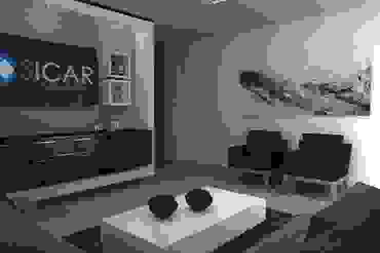Minimalist office buildings by homify Minimalist Engineered Wood Transparent