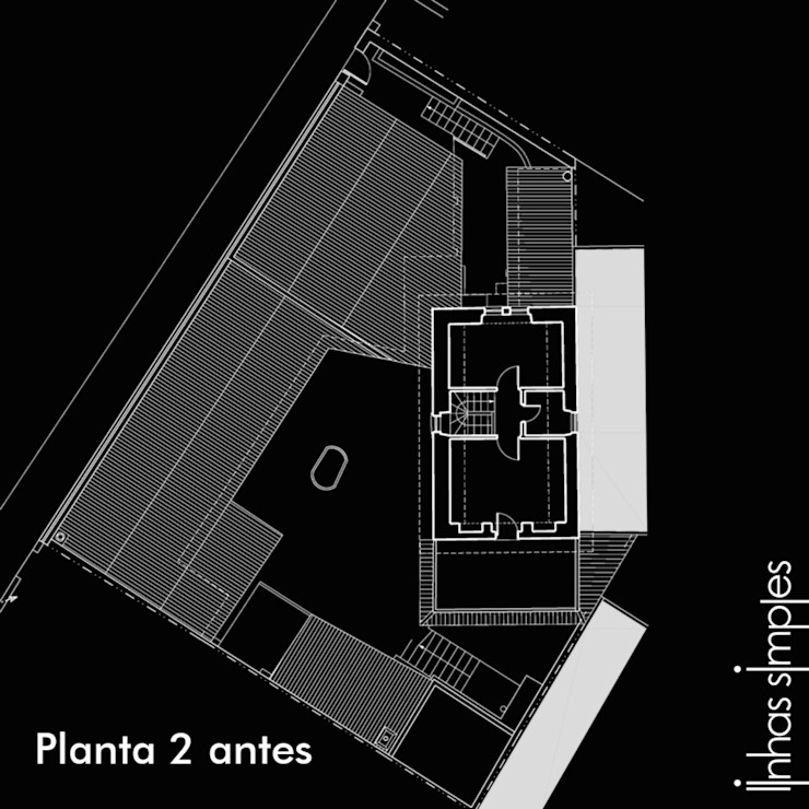 Upper layout plan - BEFORE de Linhas Simples