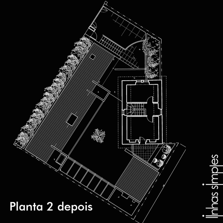 Upper layout plan - AFTER の Linhas Simples