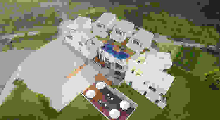 르샤트리 모던스타일 주택 by 건축사사무소 어코드 URCODE ARCHITECTURE 모던 알루미늄 / 아연