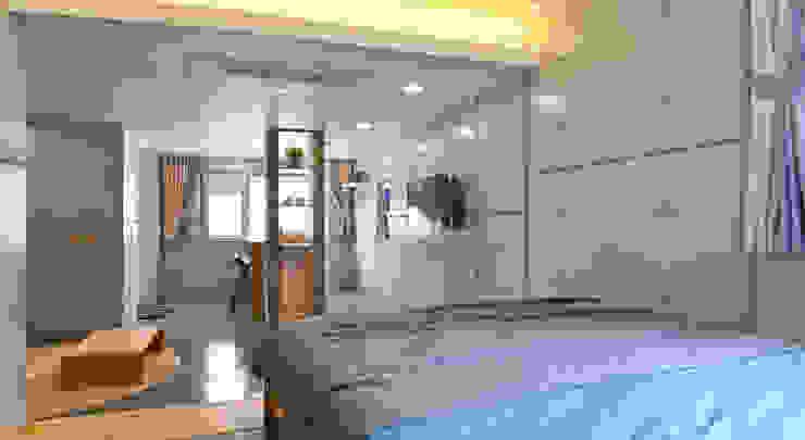 Dormitorios de estilo  por 건축사사무소 어코드 URCODE ARCHITECTURE