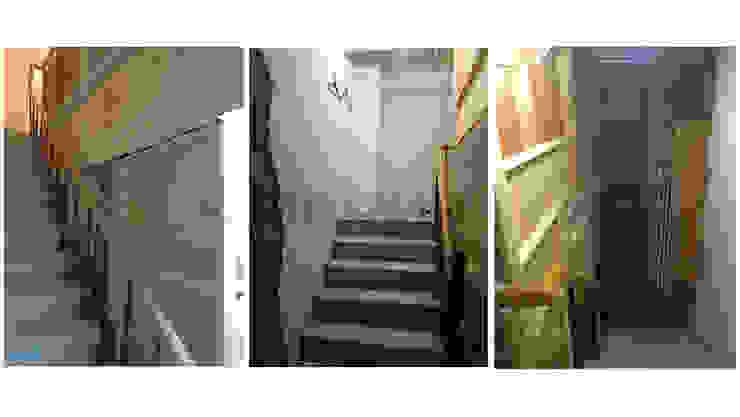改造前,房屋好像未完成的毛胚屋,連樓梯扶手都是臨時的。 根據 wanchan interior / 萬仟工程有限公司