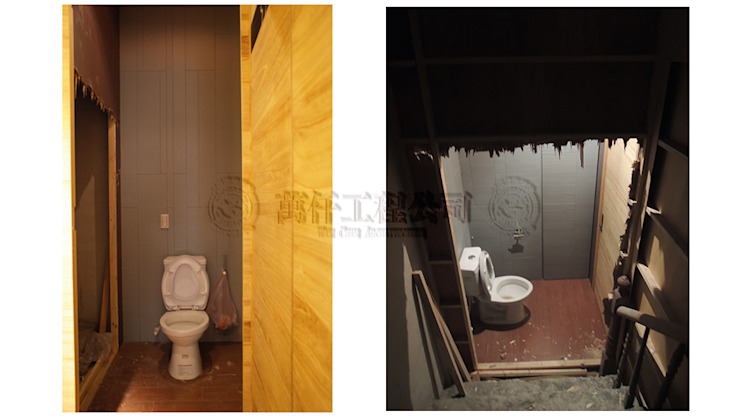 改造前打開第三戶原本廁所封死的木隔間後,終於找到另一隻樓梯,而第二戶的樓梯已經被拆光光….. 根據 wanchan interior / 萬仟工程有限公司