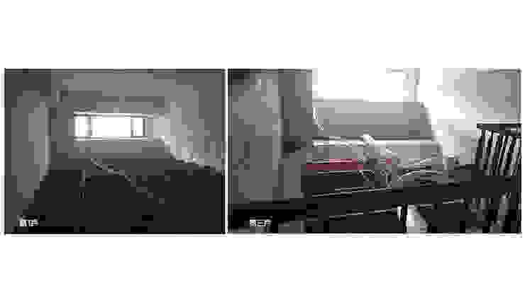 改造前第一戶和第三戶的視野凌亂的天花板骨架和空調風管。 根據 wanchan interior / 萬仟工程有限公司