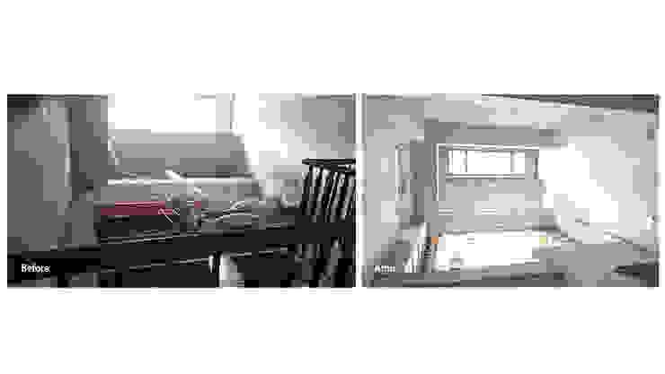 改造前拆除天花板後好清爽 (第三戶)。 根據 wanchan interior / 萬仟工程有限公司