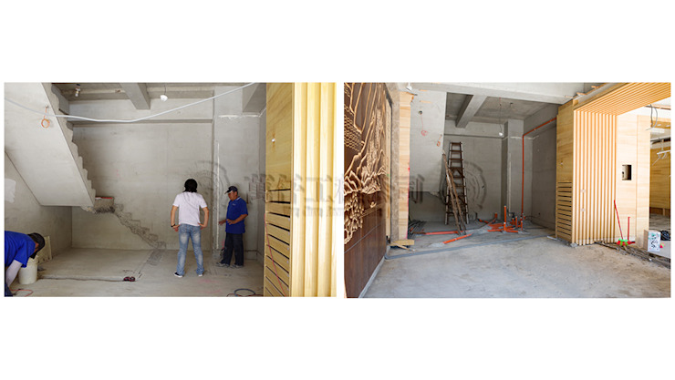 改造進行,拆除後才知道建設公司在一樓完全沒有留管道間 根據 wanchan interior / 萬仟工程有限公司