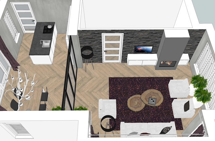 interieurontwerp nieuwbouw woning van BinnenID