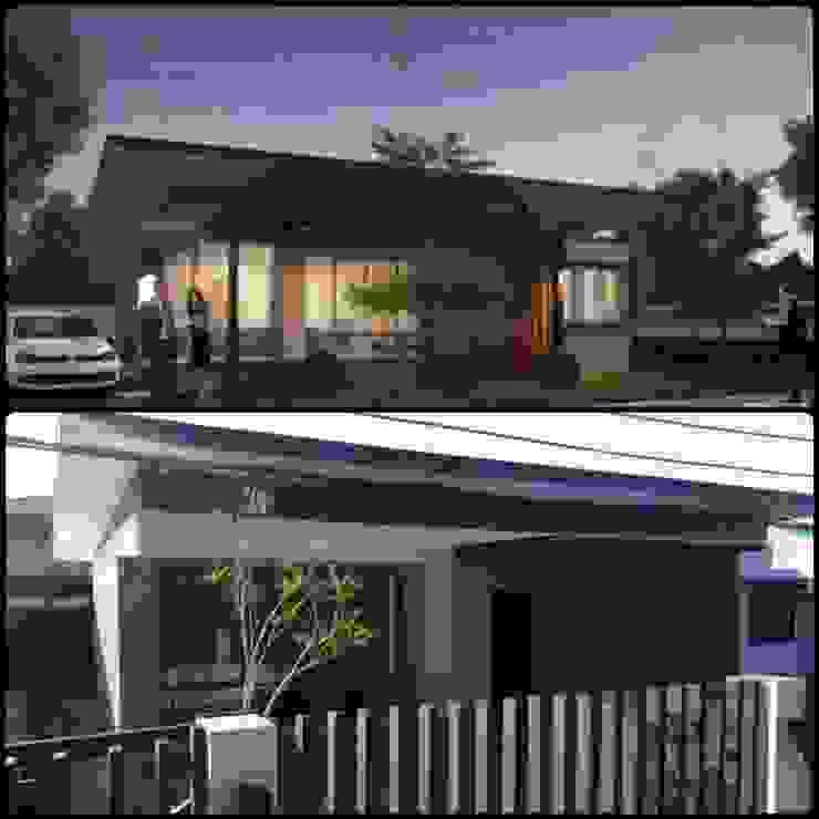 ภาพเปรียบเทียบระหว่างภาพ 3 มิติ กับ ผลงานสร้างเสร็จ โดย K&K Knockdownhome