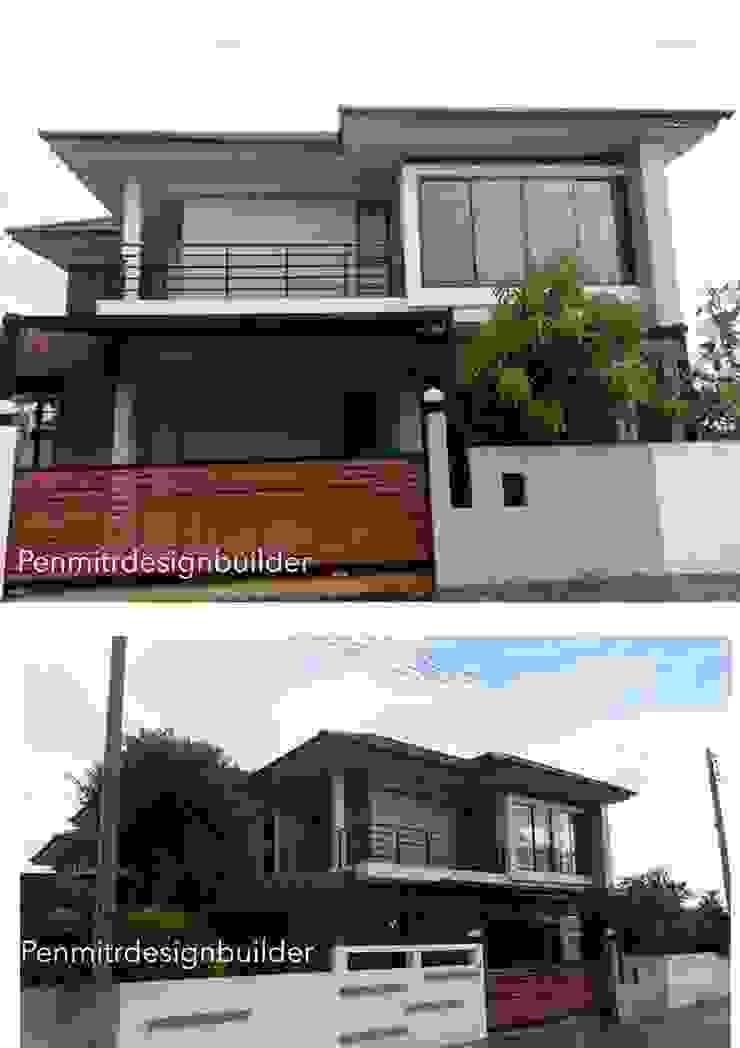 GN04:: บ้านสองชั้น สไตล์ทรอปปิคอลโมเดิร์น แบบบ้านท่าบ่อ หนองคาย โดย penmitrdesignbuilder