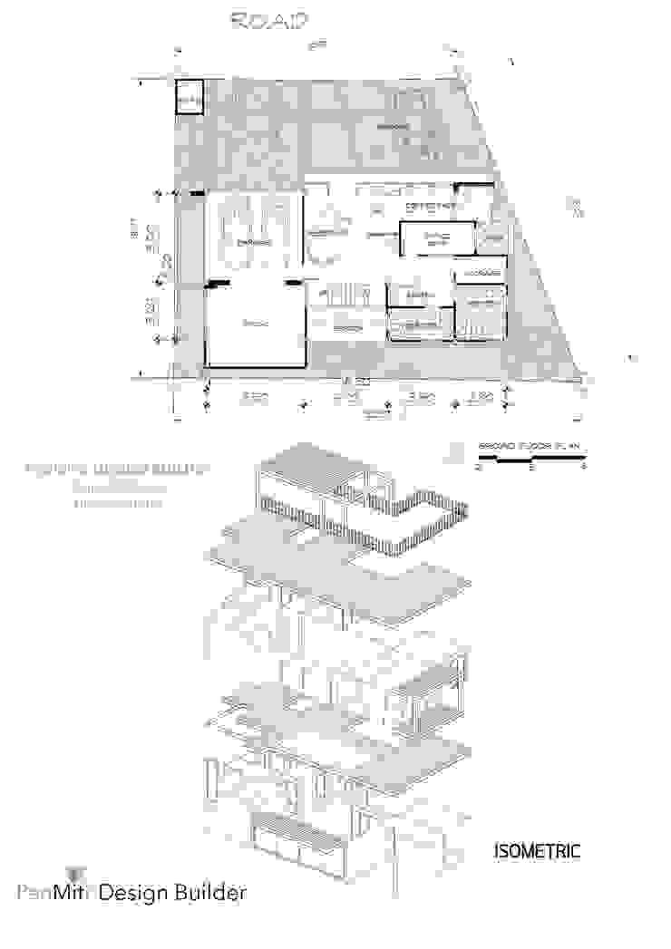 อาคารสำนักงาน 2 ชั้น มีดาดฟ้า ทาวน์อินทาวน์ กทม. คุณซี ฉัตว์ปวีย์ โดย penmitrdesignbuilder