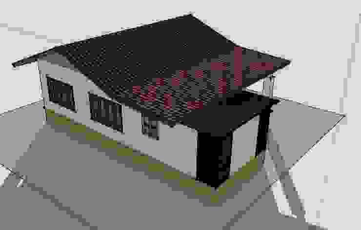 บ้านชั้นเดียว 2ห้องนอน 1ห้องนํ้า 1ห้องครัว โดย เจแอนด์เจ