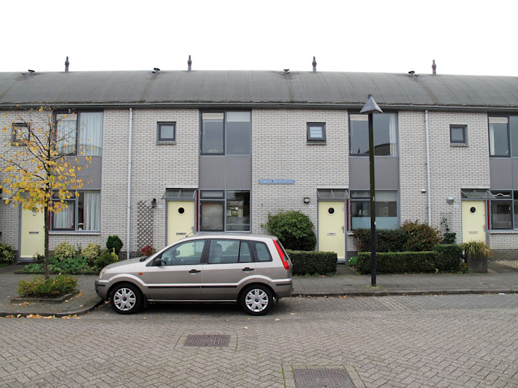Verbouw 2 woningen te Utrecht (bestaande situatie voorgevel) van CMOarchitect bna