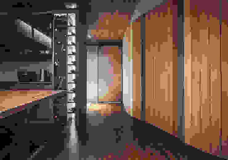 04 工業風的玄關、走廊與階梯 根據 樂沐室內設計有限公司 工業風 實木 Multicolored