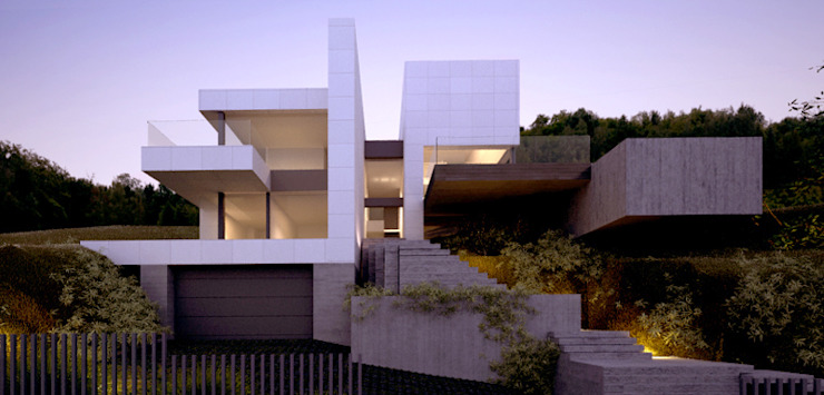 Rumah Modern Oleh EAU ARQUITECTURA S.L.P. Modern