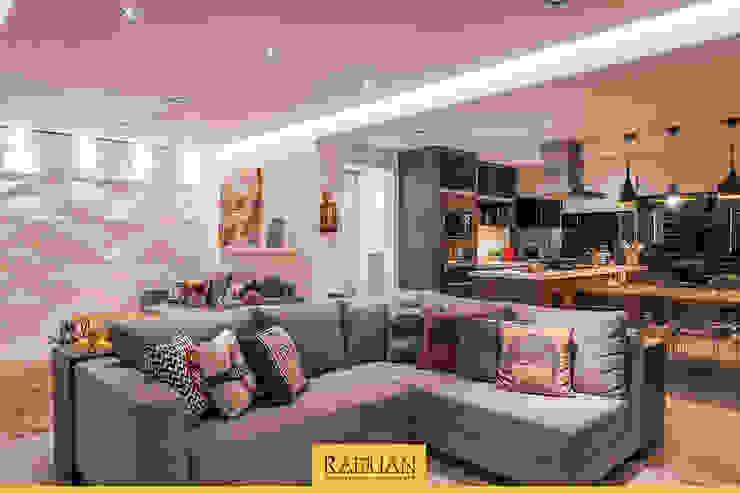 Sala de Estar + Terraço Gourmet Salas de estar modernas por Raduan Arquitetura e Interiores Moderno