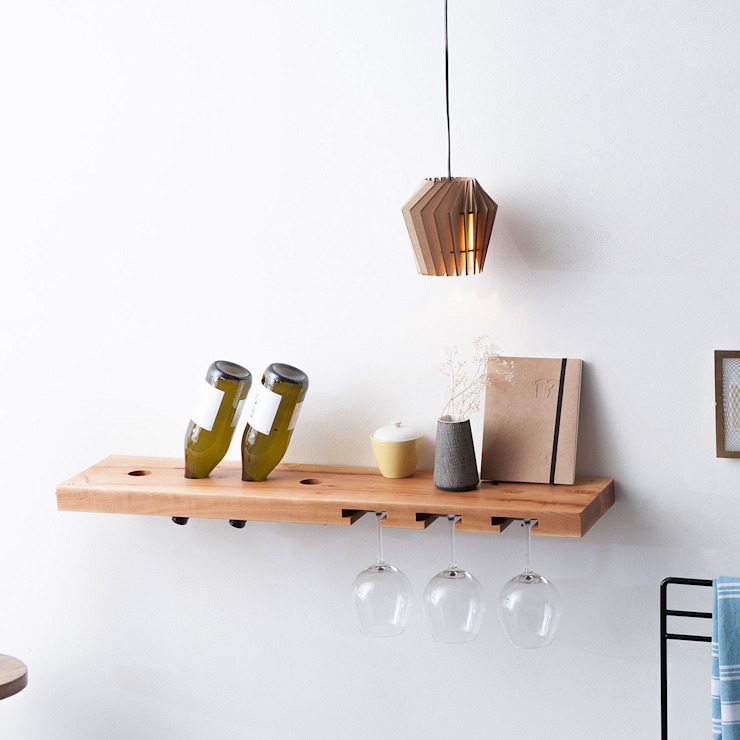 TU LAS model B wine and glass rack | pear wood Oleh TU LAS Minimalis Kayu Wood effect
