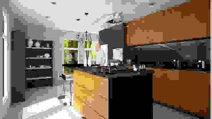 Casa Pacheco Visualizacion 3D Cocina de RENDER STUDIO