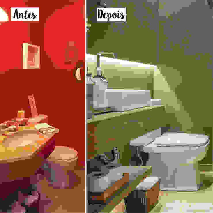 Antes e Depois - Lavabo Danyela Corrêa Arquitetura Banheiros modernos