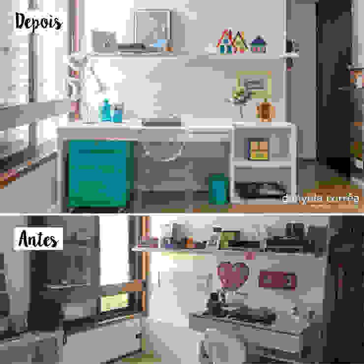 Antes e Depois - Quarto Menina Danyela Corrêa Arquitetura Quartos modernos
