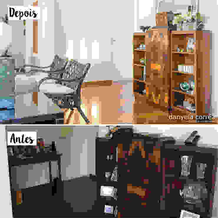Antes e Depois Danyela Corrêa Arquitetura Corredores, halls e escadas modernos