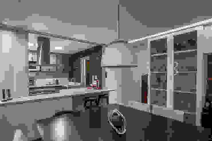 Residência MP Salas de jantar modernas por fatto arquitetura Moderno