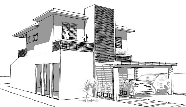 A Complete Layout Of A Two Storey House With Floor Plans
