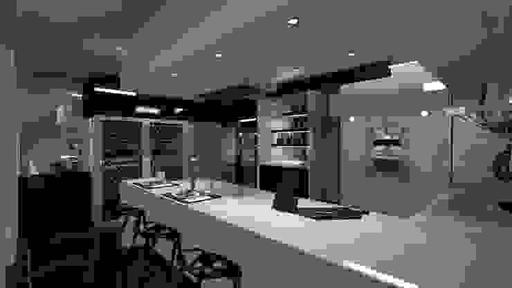 Dapur Minimalis Oleh Diseño de Locales Minimalis