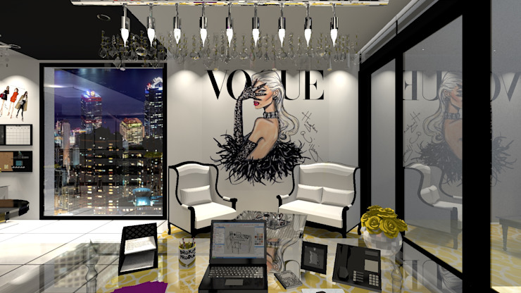 Eclectic style study/office by Diseño de Locales Eclectic