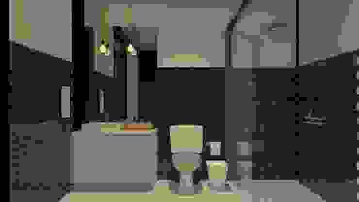 現代浴室設計點子、靈感&圖片 根據 Studio Escala Arquitetura e Interiores 現代風
