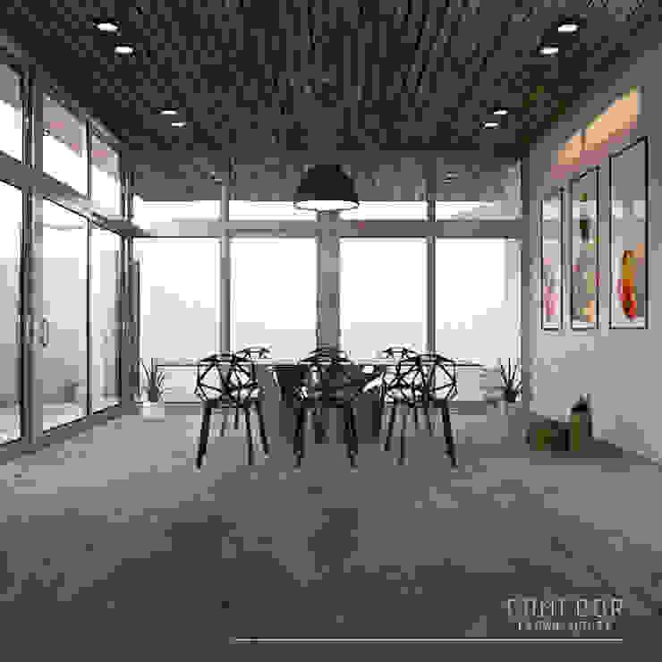 AS. ARQUITECTOS Minimalist dining room Concrete White